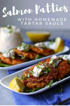 Easy Salmon Patty Recipe with Homemade Tartar Sauce | INSPIRED home