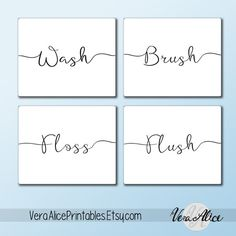 Hey, I found this really awesome Etsy listing at https://www.etsy.com/listing/248263950/wall-art-printable-set-bathroom-sayings