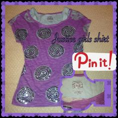 Justice shirt size 8 girls Cute Justice shirt Justice Tops Tees - Short Sleeve