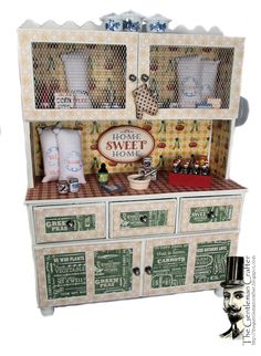 Good Morning Everyone! This week Graphic 45 is showing Sneak Peeks of projects using their new collections! Today is HOME SWEET HOME and. Miniature Furniture, Dollhouse Furniture, Diy Dollhouse, Dollhouse Miniatures, Graphic 45, 3d Paper Crafts, Paper Art, Chipboard Crafts, Paper Crafting