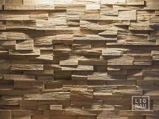 Wandverkleidung 3D Eiche Spaltholz Verblender Dekorplatte Wandpaneele Echtholz