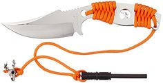 Master Cutlery EP2001SL 8 Fixed Blade Knife Mirror Finish Orange Cord Handle with Fire Starter * Want additional info? Click on the image. #KnivesandTools