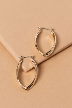 7591e0a68 Petal Wave Hoop Earrings $12 Gold Hoop Earrings, Wire Jewelry, Jewelry Box,  Porto
