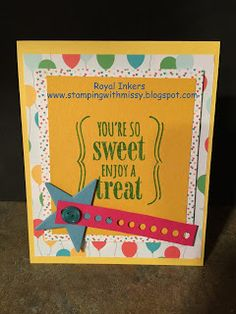 Missy Hillman, Independent Stampin'Up! Demonstrator: You're So Sweet