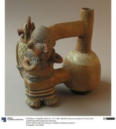 33/ INCA - Vase double, femme avec fardeau. http://www.metmuseum.org/collection/the-collection-online/search/308555?rpp=90&pg=1&ft=inca&what=Ceramics&pos=21
