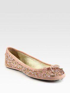 f508faab590e Jimmy Choo - Weber Crystal-Coated Suede Ballet Flats - fw2012  JimmyChoo  Spike Heels