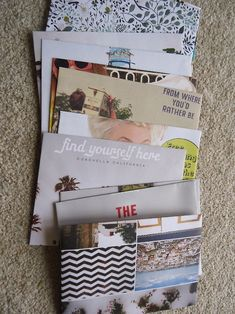 Gutter Stars.  Magazine Envelopes DIY