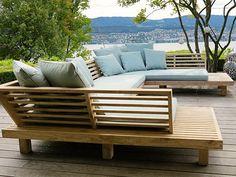 Deck Seating, Outdoor Seating, Backyard Furniture, Outdoor Furniture Sets, Outdoor Deck Decorating, Outdoor Decor, Garden Sofa, Sofa Set, Outdoor Living