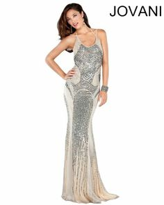 LOVE the open back on this dress! Jovani 1371
