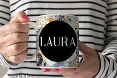 Mugs Personalized, Name Mugs, Mugs for Friends, Mugs For Mom, Mugs for Her, Teacher Mugs, Personalized Cups, Pattern Mug, Abstract Mug P7611