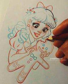~Alefvernonart~The Best Melanie Martinez FanArt! Melanie Martinez Merch, Melanie Martinez Drawings, Cry Baby, Art Sketches, Art Drawings, Joker Art, Goth Art, Drawing Tips, Kawaii Anime