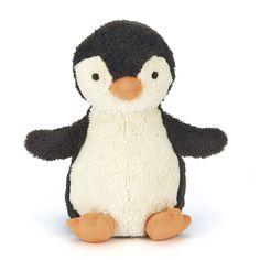 """Her er barnets """"nye bedste ven"""".Super blød pingvinbamse på 23 cm fra Jellycat. Bamsener super blød og ideel at putte med for barnet, når der skal soves og trø"""