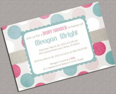 Baby Girl Shower Invitations Printable Pink
