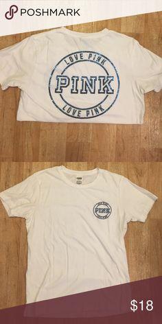PINK Campus Short Sleeve T-Shirt PINK Victoria's Secret Short Sleeve T-Shirt. Only been worn a few times. PINK Victoria's Secret Tops Tees - Short Sleeve