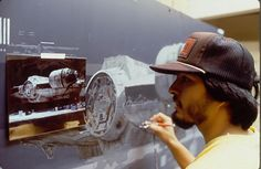 Before the computing era, ILM was the master of oil matte painting, making audiences believe that some of the sets in the original Star Wars and Indiana Jones trilogy were real when they weren't. Star Wars Jokes, Star Wars Facts, Ralph Mcquarrie, Matte Painting, Star Wars Characters, Star Wars Episodes, King Kong, Indiana Jones Films, Star Wars Tattoo