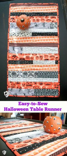 Dress your table in festive Halloween decor with this DIY Easy-to-Sew Halloween Table Runner that you'll look forward to setting out year after year.