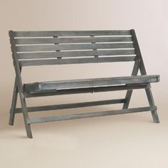 One of my favorite discoveries at WorldMarket.com: Ash Gray Wood Outdoor Folding Bench
