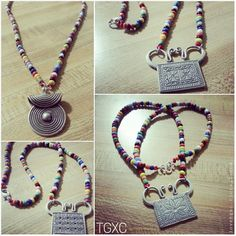 Beaded Soul Lock Necklace Custom Colors and Pendant Style by TGXC, $39.99