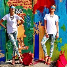 Rag & Bone Pants, Alexandre Birman Sandals, Armani Exchange  T Shirt, Armani Exchange  Shades, Pop Up Store Necklace
