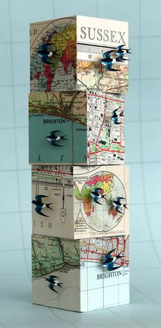 John Dilnot 3d paper sculpture swallows flight                                                                                                                                                                                 More