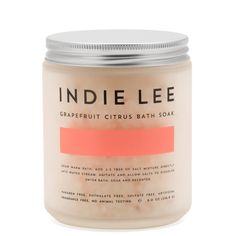 Indie Lee Bath Soak Grapefruit Citrus product smear.