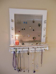 7 Playful Cool Tricks: Silver Jewelry For Men turquoise jewelry handmade.Silver Jewelry For Men cute jewelry handmade. Jewelry Holder Wall, Jewelry Organizer Wall, Wall Organization, Jewelry Organization, Necklace Storage, Hanging Jewelry, Necklace Holder, Jewelry Storage, Jewelry Wall