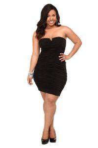 I LOVE LITTLE BLACK DRESSES ^_^  Black Ruched Pink Lining Strapless Dress | Club