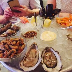Seafood platter at the Wright Brother's Spitalfields