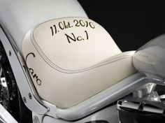 The Caroline Wozniacki bike, hand build by Lauge Jensen motorcycles - October 11th 2010 - the day Wozniacki went number one.