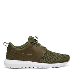 Nike Flyknit Prime Rough Green Low Top - Sneakerboy ($180) ❤ liked on Polyvore featuring shoes, sneakers, nike, low profile shoes, green shoes, nike sneakers and nike shoes
