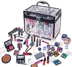 Dance Mom or Makeup Enthusiast? This Is The Starter kit for Makeup Newbies Included: Eye shadows , Blush, Powders, Nail polish, Pencils, Sharpener, Mirror, brushes Pedicure and Manicure Accessories, Fashion Lip-glosses, Trendy & Hot Lipstick Colors