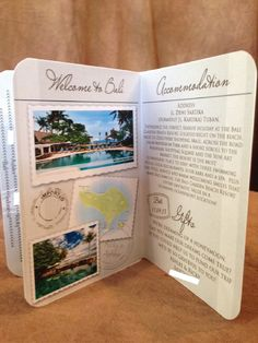Passport wedding invites can store all the information you need for your destination wedding