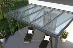 REXOpremium Titan Alu Terrassendach 5m x 3m, mit Massivplatten