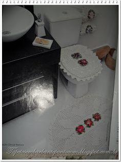 Tapetes em Barbante Ponto Com: Gráfico de jogos de banheiro