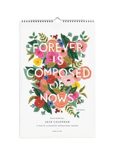 Rifle Paper Co 2018 inspirational quotes calendar – Papermash