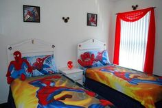 wanted his room filled with idol such as spiderman power rangers