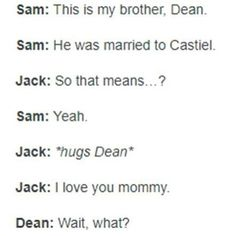 Jack is Dean's step, step son