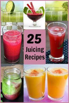 25 Juicing Recipes for everyday health. #juicing #juicingrecipes #juicerecipes