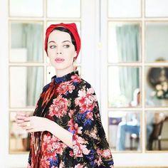 Ulyana Sergeenko in Paris #flowers