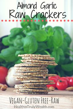These Raw Crackers are SO good and full of nutrients! You gotta give them a try!  Raw Cracker Recipe