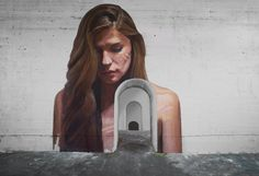 New Women Portraits in Unexpected Places by Hula  Street-artist Sean Yoro aka Hula always creates incredible murals depicting young and beautiful women merging from water. Here is a new series of portraits he painted in unexpected places giving a fascinating dimension to the landscapes he works on as if they were inhabited by a giant muse.        #xemtvhay