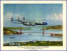 Pan American Airways Around the World 1947 - Print