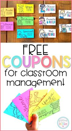 Change your classroom management system into a positive one with class reward coupons. Save money, stop filling the treasure box, and try the FREE pack of coupons today! #teacherfreebie #classroommanagement #classcoupons #rewardsforkids #teachingidea
