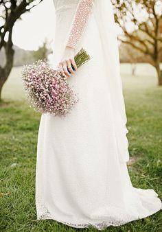 Paniculata blanca y rosa... Ramo de novia