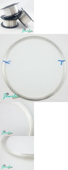 Wire 67714: .925 Sterling Silver Wire, Half Hard, Round, 10 12 14 16 18 19 20 21 Gauge -> BUY IT NOW ONLY: $40 on eBay!