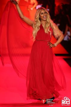 346971d2e32a Laverne Cox - Celebrity Walker in the Go Red For Women Red Dress Collection  2015 presented by Macy's.