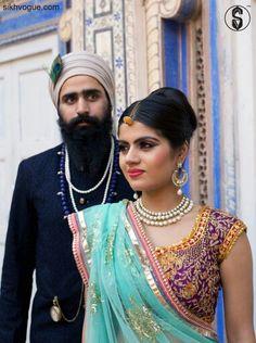 Royal Rajasthan! Models: Swarndeep Singh & Sneeha Stylist: Anish Gopal Photographer: Nikhil Raj & Atul photography Make Over: Shilpa Shokhanda Men Outfit: Renvoyer Women Outfit: PostCard Associate Partner: Stride #Punjabi #Rajasthan #fusion #sikhvogue #magazine #sikh #fashion #style #turbanista #vogue #photography #turban #beard