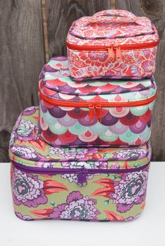 Crimson and Clover Train Cases PDF Sewing by SewSweetnessPatterns