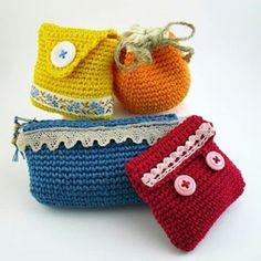 crochet purses - portamonete all'uncinetto
