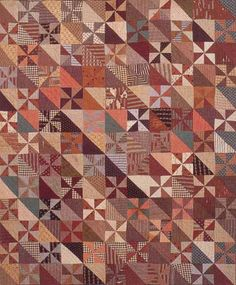 Pieced Quilt, 1865. Made by unnamed slave near Gladys, Campbell Co, Virginia. Quilts of Virginia 1607-1899.